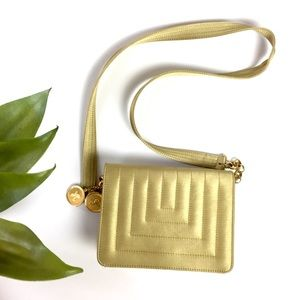 Cross-body Gold Purse